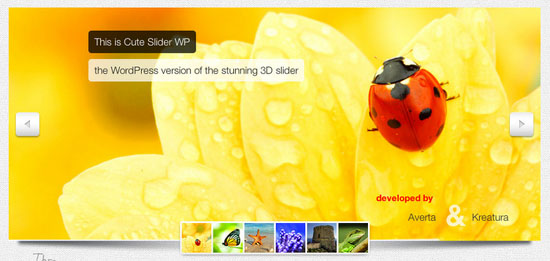 Cute Slider WP - 3D 2D HTML5 WordPress Slider