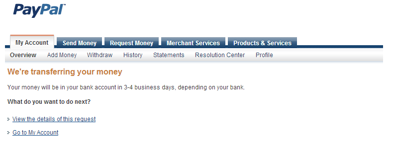 Fianl PayPal Screenshot