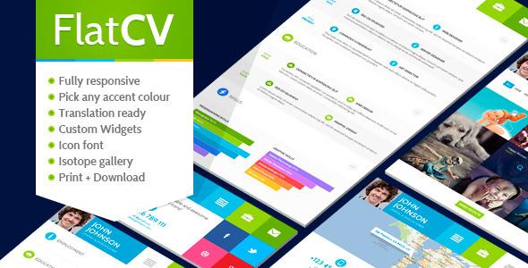 FlatCV - Resume Portfolio WordPress