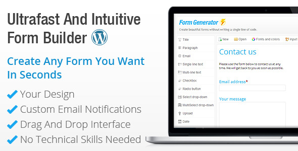 Form Generator - WordPress Contact Form Builder
