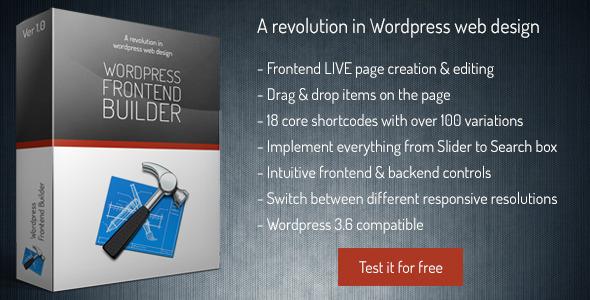 Frontend Builder - WordPress Content Assembler