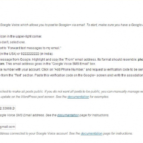 Google+ Auto Post Settings