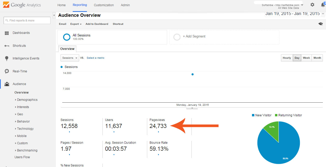 Google Analytics Softstribe January 2015