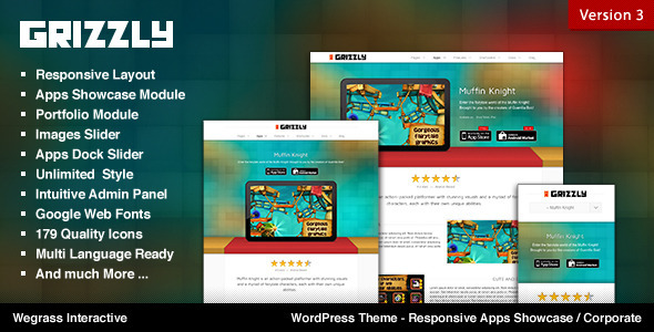 Grizzly - Responsive App Showcase Corporate