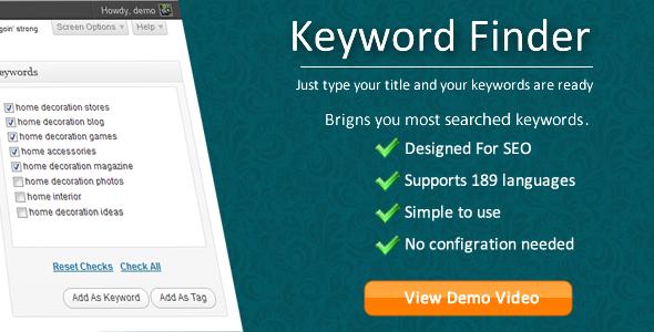 Keyword Finder for WordPress3
