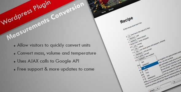 Measurement Conversion - WordPress Plugin