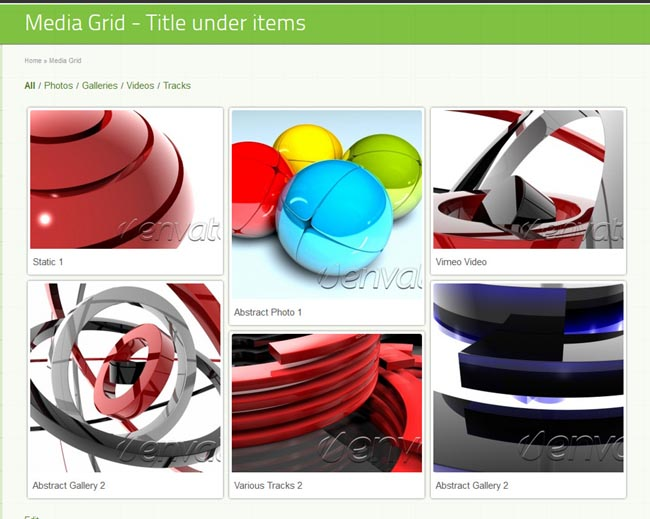 Media Grid - WordPress Responsive Portfolio Screenshot