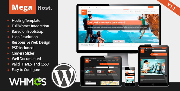 MegaHost - Responsive Hosting - WordPress Template
