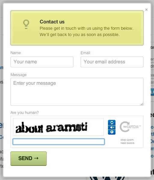 Modal Contact Form for WordPress