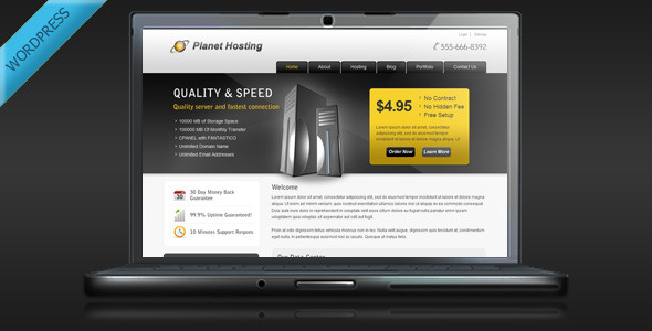 Planet Hosting - Hosting WordPress Theme