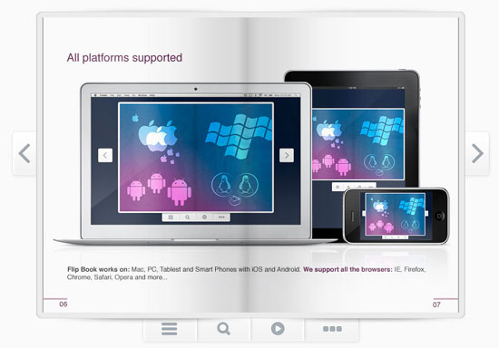 Responsive Flip Book WordPress Plugin Screenshot