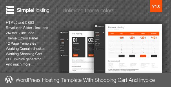 Simple Hosting - Modern WordPress Theme