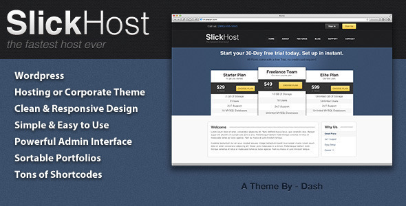 SlickHost - Hosting & Corporate WordPress Theme
