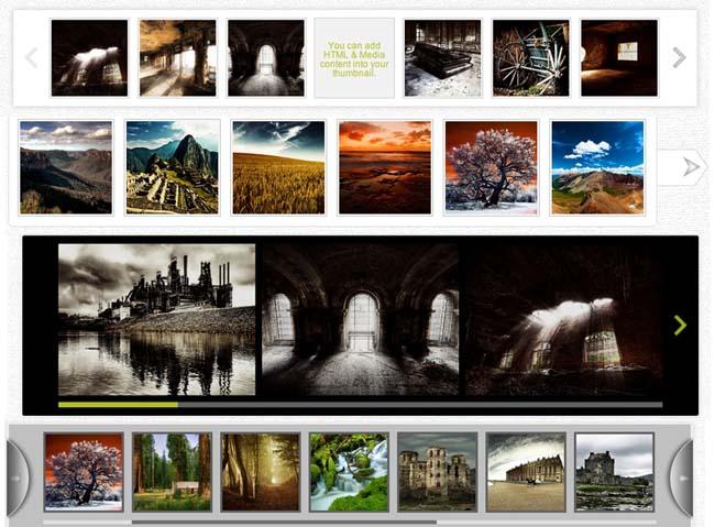 Thumbnail Scroller WordPress Plugin examples