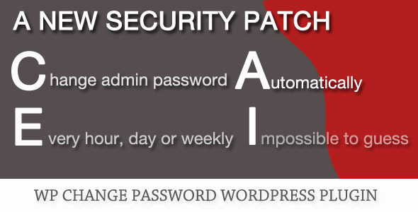WP Change Password Plugin