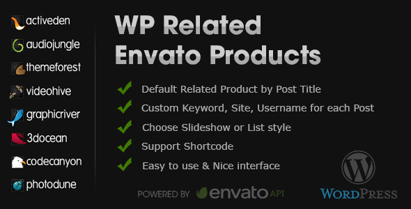 WP Related Envato Products