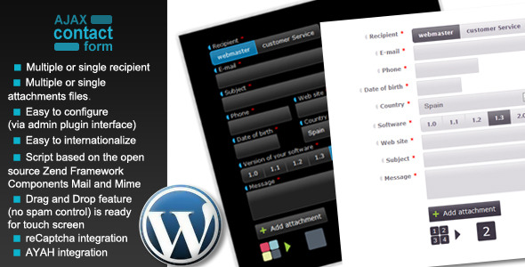 Wordpress Ajax Contact Form with attachments