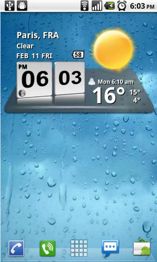 3D Digital Weather Clock Android