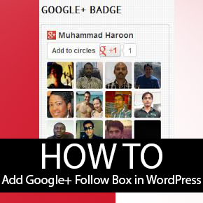 How to Add Google+ Follow Box in WordPress