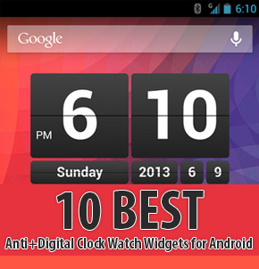 Best Anti+Digital Clock Watch Widgets for Android Thumbnail