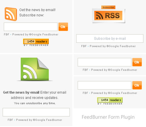 Feedburner Form WordPress Plugin