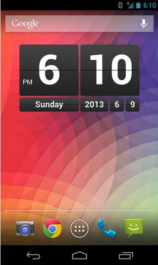 Retro Clock Widget Android