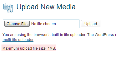 Media file uploader WordPress
