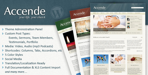 Accende - WordPress Church Theme