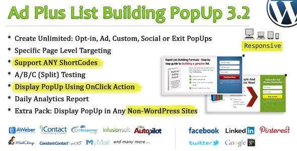 Ad Plus List Building Popup