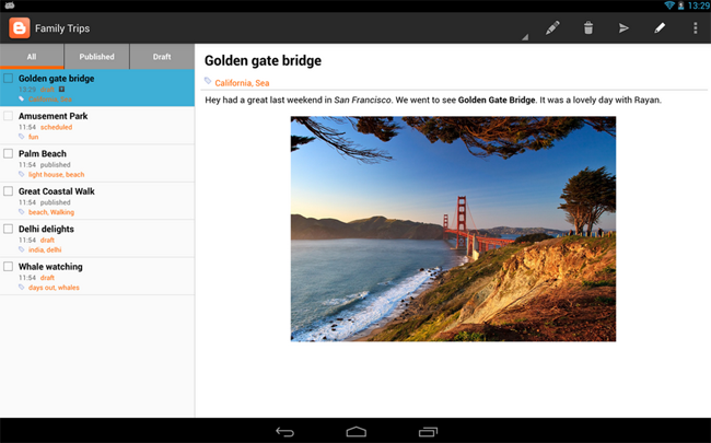 Blogger for Android