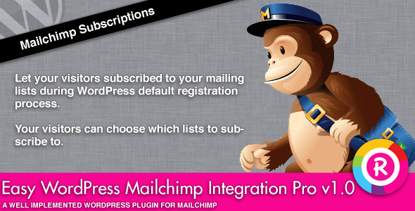 Easy WordPress Mailchimp Integration Pro