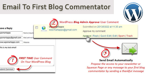 Email To First Blog Commentator