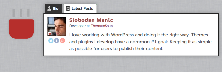 Fancier Author Box by ThematoSoup WordPress Plugin