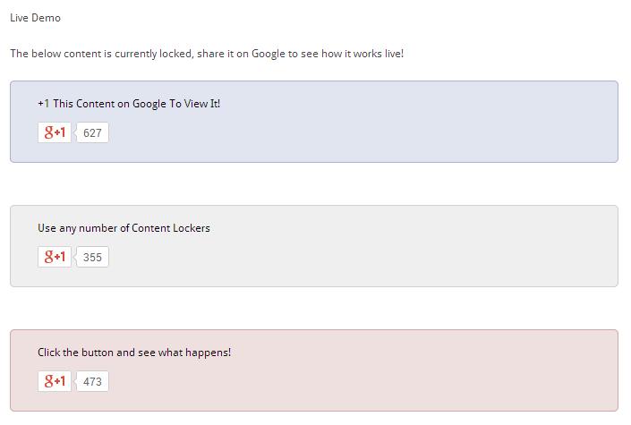 Google+ Content Locker WordPress
