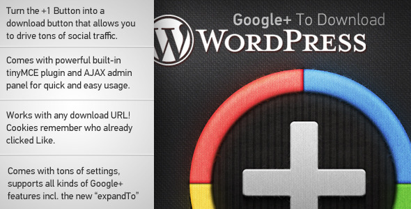 Google Plus to Download For WordPress