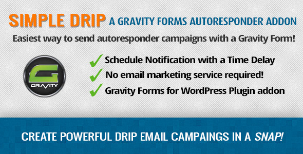 Gravity Forms Simple Drip - Autoresponder Addon