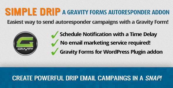 Gravity Forms Simple Drip - Autoresponder Addon