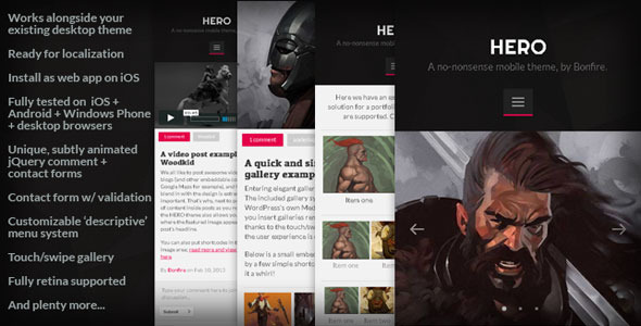 HERO - A no-nonsense mobile theme for WordPress
