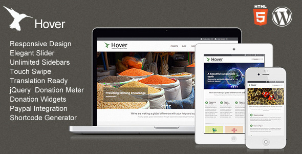 Hover - Responsive WordPress Theme