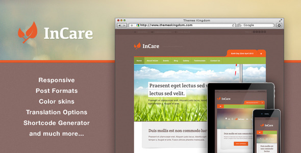 InCare - Responsive Eco NonProfit WordPress Theme