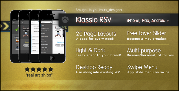 Klassio RSV Responsive WordPress Mobile Template
