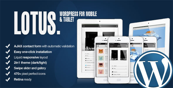 Lotus - Mobile and Tablet WordPress & Retina