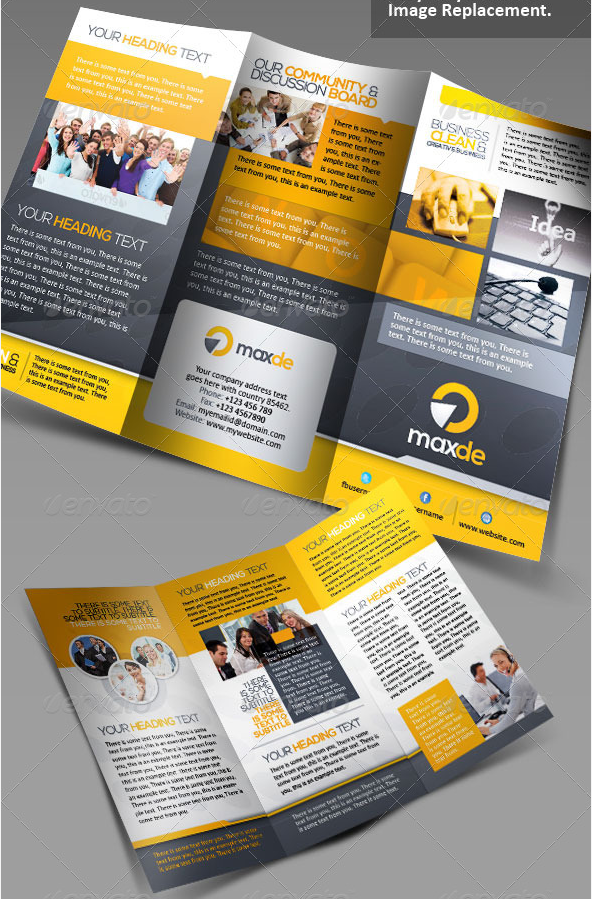 Maxde Tri-fold Clean Brochure