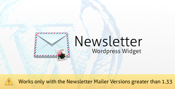 Newsletter Mailer WordPress Widget