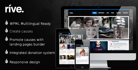 Rive - Responsive Charity WordPress Theme