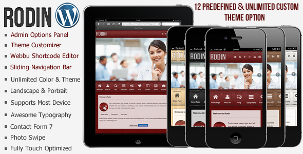 Rodin Mobile Template WordPress Version