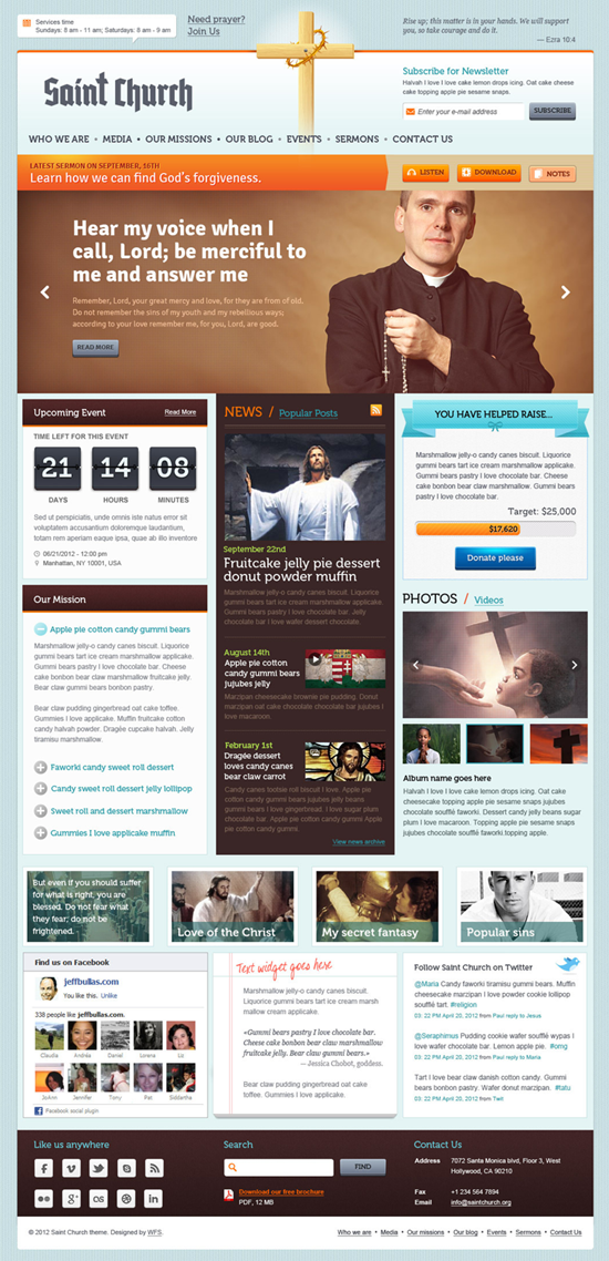 SaintChurch WordPress Theme for Charity