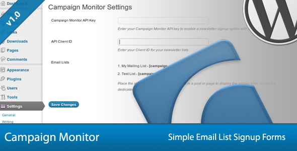 Simple Campaign Monitor Signup Forms