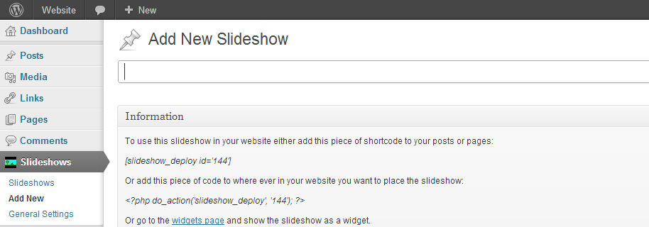 Slideshows WordPress Plugin
