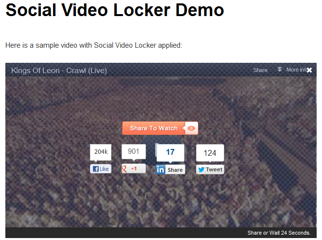 Social Video Locker WordPress